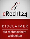 eRecht24 - DISCLAIMER für rechtssichere Webseiten